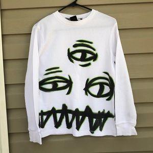 Shaun White boys white long sleeve thermal shirt